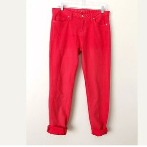 Kate Spade Perry Street Spring Red Jeans 29